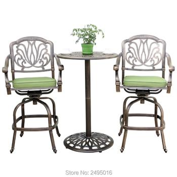 3 шт литая алюминиевая мебель для веранды бар набор бистро стол и стулья Coverstaion набор для бассейна сада