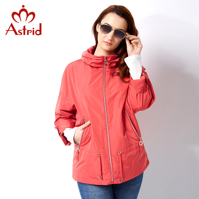 Astrid 2019 New Spring   Trench   Coat Plus Sizes Woman's Coat top Brand female turtleneck Windbreaker ukraine 3 color solid AS-2723