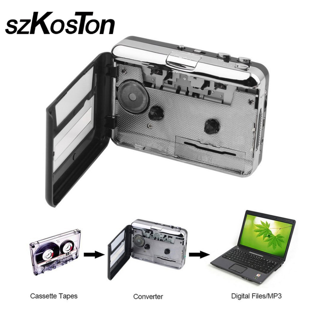 Cassette Player USB Cassette to MP3 Converter Capture Audio Music Player Convert music on tape to Computer Laptop