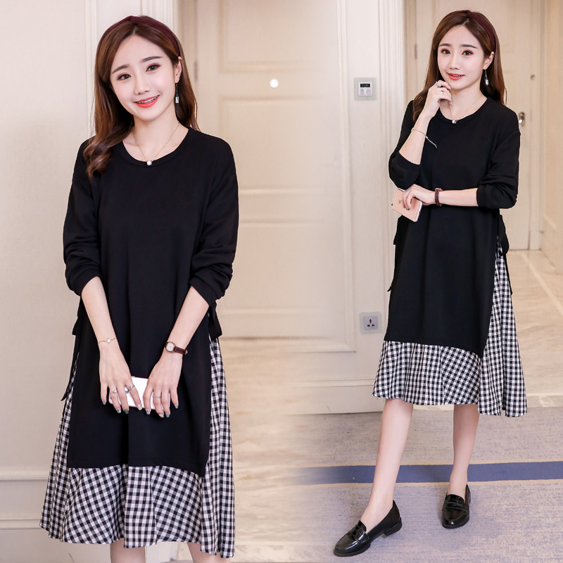 Maternity Dress Lace Pregnancy Clothes Autumn Spring Maternity Clothing Of Pregnant Women Long Sleeve Dresses Black