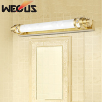Американский бронзовое зеркало фар ванная комната, зеркало, лампа в европейском стиле тщеславие огни 48 см 10 Вт 110/220 В