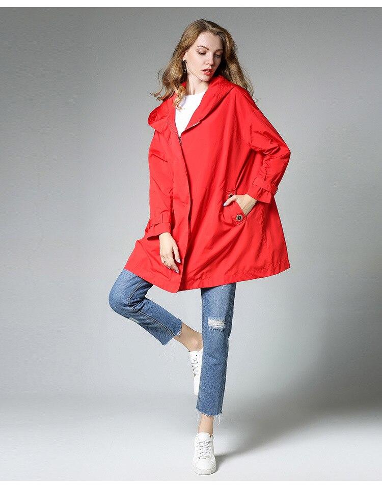 Tranchée Plus Solide Femmes Sleevecasual Femme Vêtements Poches La Col Étanche Long Taille Nouvelles À 2 Manteau Capuchon Automne Couleur ZOkuTPXi