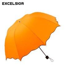 Famous Brands tres Paraguas plegables de vacaciones regalo para el novio y la novia paraguas plegable para las mujeres hombres U0011