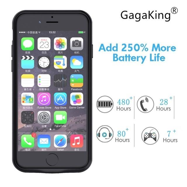 Gagaking 5000 mah 7200 mah Sạc pin Trường Hợp Đối Với iPhone 6/6 S/6 P/6SP/ 7/7 P/8/8 P Ngân Hàng Điện Trường Hợp Pin Sạc Bên Ngoài
