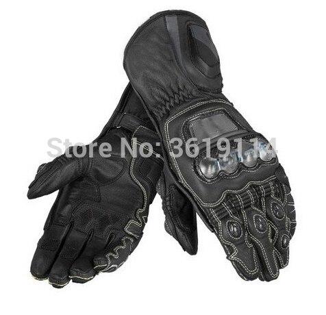 Gants longs en métal D1 Moto GP course conduite gants en cuir de Motocross
