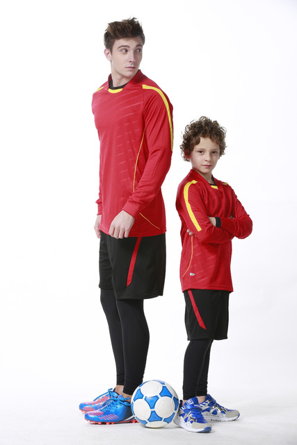 2017 long sleeve soccer jersey set