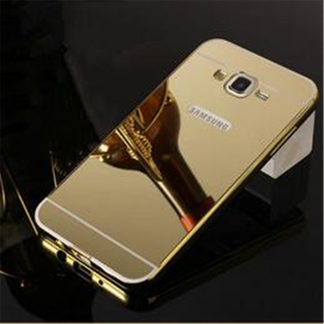 promo code c0a05 02cc8 US $4.13  For J1 Ace Gold Plating Case For Samsung Galaxy J1 Ace J110 J110F  J110H Armor Aluminum Frame + Mirror Acrylic Back Cover Cases on ...