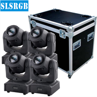4pcs Lot With Flight Case Martin Audio Water Equipment Led Moving Head Spot 10W Party Disco