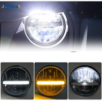 36w For Hummer Nissan Patrol Y60 Land Rover For Jeep Wrangler TJ JK LJ CJ 2D 4D 7 Round LED Headlight 7inch Led