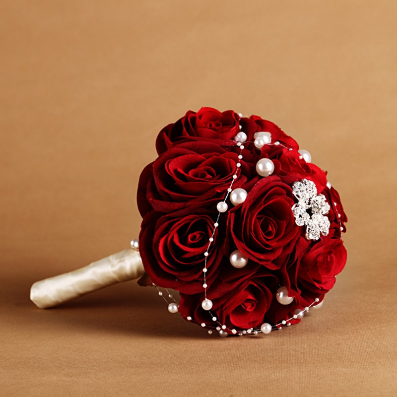 online buy wholesale red rose wedding bouquet from china red rose, Beautiful flower