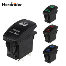 5 Pin Car Switch Carling Style LED Light Bar Toggle Rocker Switch SPST ON-OFF Waterproof Rocker Switch for Car Boat Truck 12V стоимость