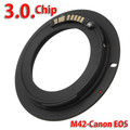 Ring M42-E0S Adapter AF Chips Confirm M42 Lens To EF Ring Adapter 600D 60D 50D 1000D Electronic Switching Ring