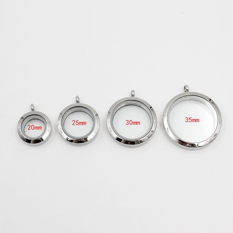 Médaillon flottant magnétique en acier inoxydable de 4 Styles médaillon en verre vivant pour breloques 10 pièces-in Pendentifs from Bijoux et Accessoires    1