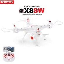 Syma x8sw x8w fpv rc drone quadcopter actualiza versión con 720 p wifi cámara 2.4g 4ch 6-axis una clave despegue/aterrizaje