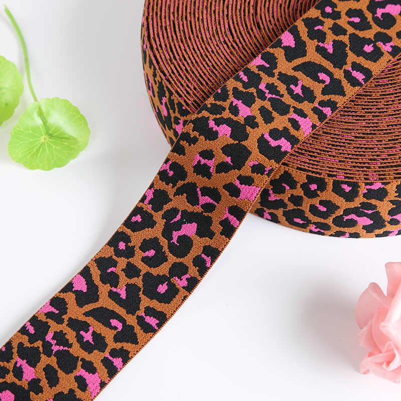 Плоские леопардовые эластичные ленты 25 мм 40 мм эластичная лента DIY аксессуары для одежды для изготовления повязки на голову сумки для одежды брюки 1 м