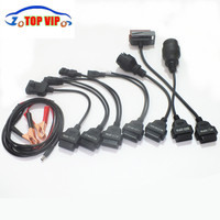 Best Qaulity !! OBD2 OBDII Adapter Converter Cable diagnostic tool cables for CDP Pro plus full set 8 Car cable Free shipping