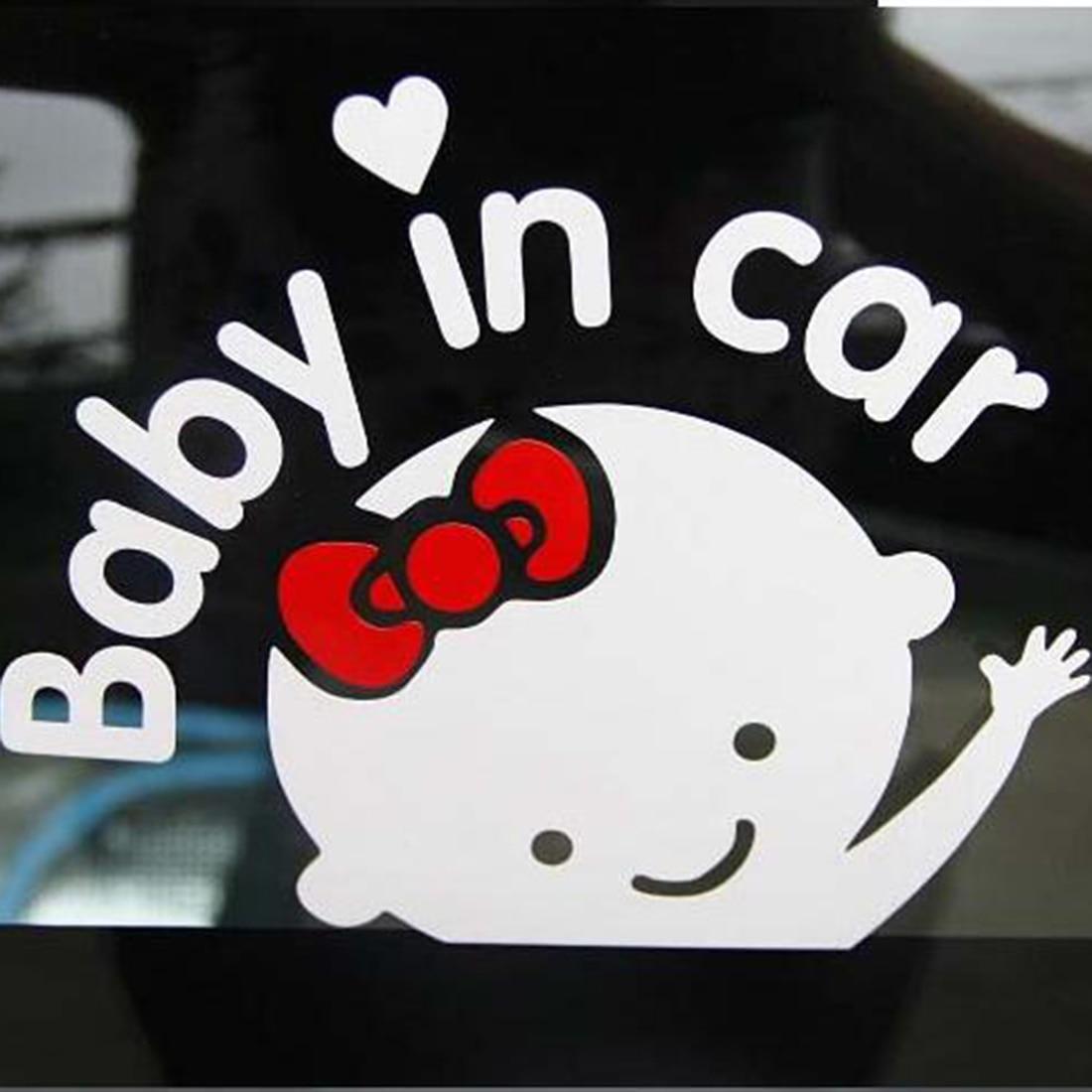 Dewtreetali Car-Styling Cartoon Car Stickers Vinyl Decal Baby on Board Baby in car Window Rear Windshield Cute Car Sticker 3d car stickers love live nishikino maki anime jdm vinyl car decal window wiper decal rear windshield car styling decor sticker