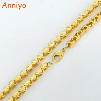 Anniyo Length 54CM Thickness 7MM New Ethiopian THICK Necklace Gold Color Copper Africa Eritrea Chunky Chain