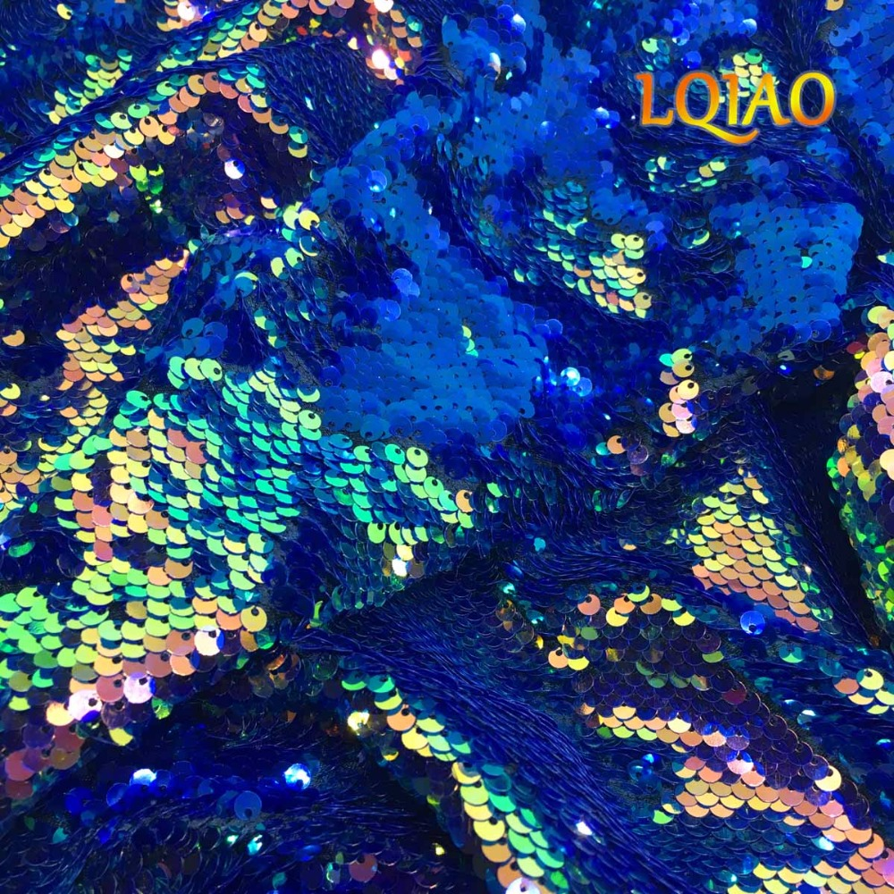 Fluorescence Gold&Dark Blue Sequins Sewing Fabric Mermaid Flip Up Sequin Reversible Sparkly Fabric For Dress/Bikini/Pillow CoverFluorescence Gold&Dark Blue Sequins Sewing Fabric Mermaid Flip Up Sequin Reversible Sparkly Fabric For Dress/Bikini/Pillow Cover