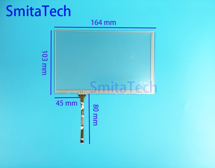 7.1 Inch 4 Wire Resistive Touch Screen ForAT070TN83 V.1 AT070TN84 Industrial Product Development Screen