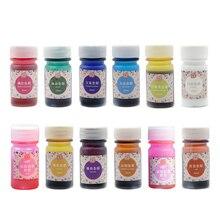 Сделай Сам смола пигмент украшения пигмент печатной краски жидкий ювелирных изделий 12 украшения для бутылок ручной работы эпоксидная смола 12 цветов на выбор