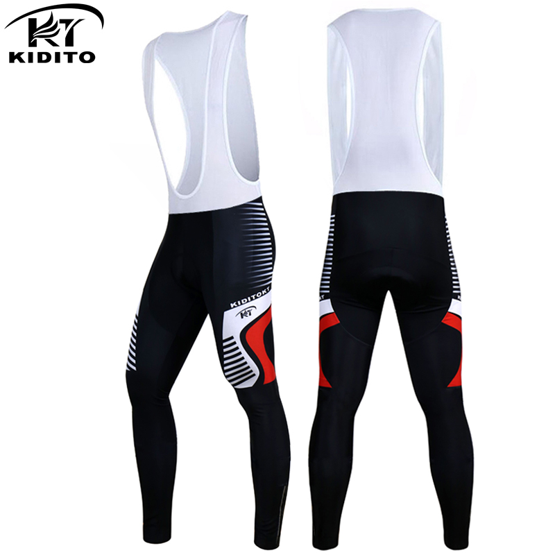KIDITOKT Kiandra Pro Spring 3D Gel Padded Coolmax Bicycle Bib Trousers Quick Dry Cycling Pants Ciclismo