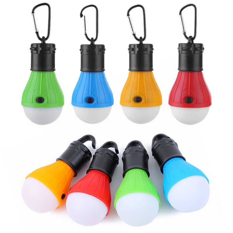 Draagbare Camping Tent Lamp Outdoor Opknoping 3LED Camping Tent Licht 3 Modes Dimbare Waterdichte Emergency Lamp
