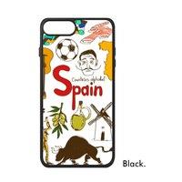 Australië China Cuba Spanje Patroon Landmark Liefde Land Symbool Telefoon Case voor iPhone X 7/8 Plus Gevallen Phonecase Cover
