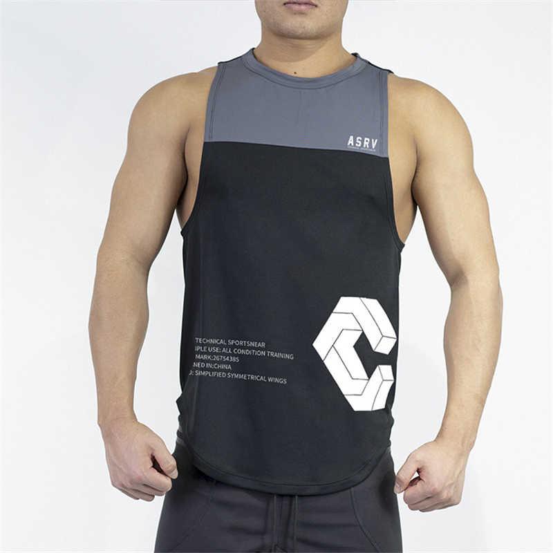2019 의류 피트니스 탱크 탑 남성 코튼 민소매 셔츠 보디 빌딩 조끼 피트니스 스티칭 패션 tracksuits 근육 옷