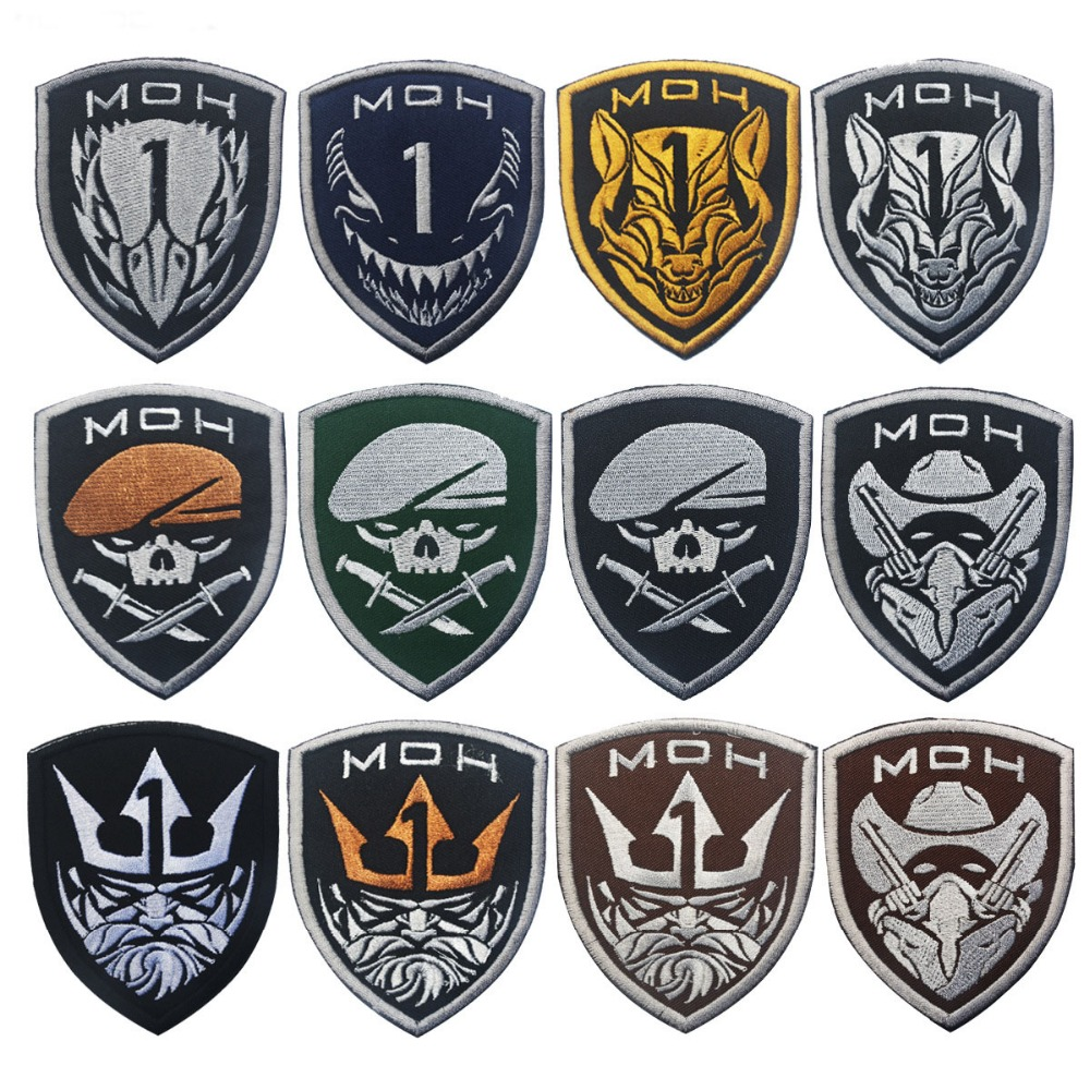 3D PVC Dogs of War Morale Military Tactical Army Edge of Tomorrow Patch White