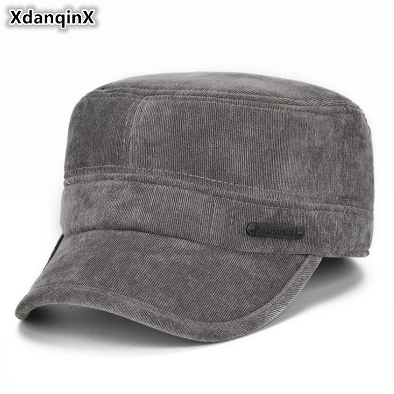 559716658 US $7.13 XdanqinX Winter Flat Cap Thick Warm Men's Army Military Hat ...