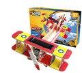 Образовательные игрушки технологии P220 veyron биплан солнечного самолета 3d головоломки сборки модели деревянные творческая игра ребенок подарок 1 шт.
