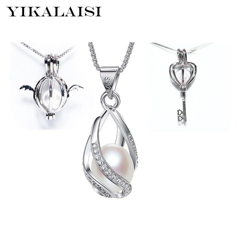 YIKALAISI 2017 mode cage pendentif raccords 925 argent plus style Accessoires sans perle boîte chaîne pour oyster perle