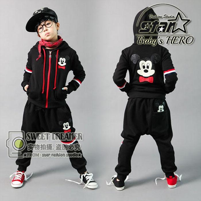 a7350c8ee Children Girls Boys Clothing Set Autumn Winter Teenage Kids Sport ...