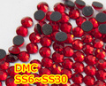 ss6,ss10,ss16,ss20,ss30 Light Siam High Quality DMC Iron On Glass Rhinestones / Hot fix Crystal Rhinestones