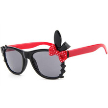 2ba06224a44 JAXIN Cute cartoon rabbit kids sunglasses personality bow UV protection  safety Sun Glasses girls favorite square glasses UV400