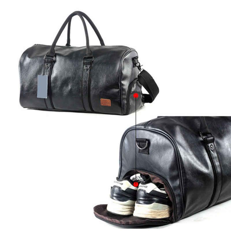 Açık Spor PU Spor spor çantası Eğitim omuz çantaları Ayakkabı Depolama Cep Deri Seyahat Bagaj Çok Fonksiyonlu Çanta X312WA