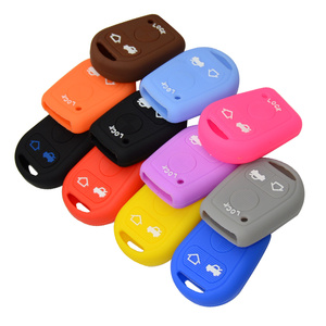 Car-Stying Silicone Car Key Cover FOB Case For BMW E31 E32 E34 E36 E38 E39 E46 Z3 3 Buttons Silica Gel Case Shell Free Shipping