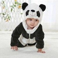 Zwierząt Cosplay Costume Newborn Baby Boy Dziewczyna Z Kapturem Pajacyki Kombinezon Dla Niemowląt Panda Ubrania