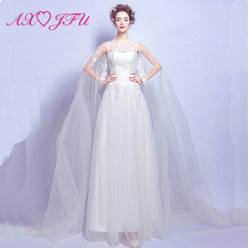 AXJFU Europe Sexy Perspective Lace Flower Princess Wedding