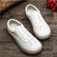 2019 Spring women flats shoes women oxford lace up ballet flats moccasins boat shoes ladies lazy loafers shoes white sneakers c7