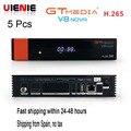 5 шт. GTMedia V8 Nova Full HD DVB-S2 спутниковый ресивер тот же V9 Супер Обновление от V8 супер декодер поддержка H.265 встроенный WiFi