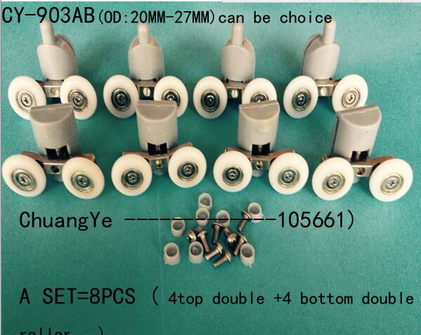 Free Shipping 8 Shower Door Rollers/Wheels/Runners/Pulleys CY-903AB