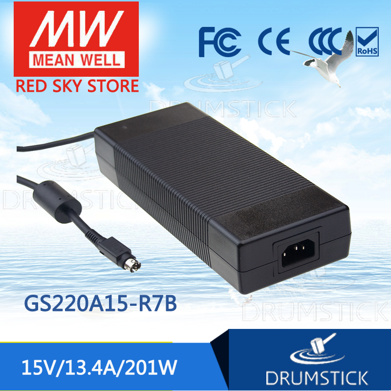цена на Advantages MEAN WELL GS220A15-R7B 15V 13.4A meanwell GS220A 15V 201W AC-DC Industrial Adaptor