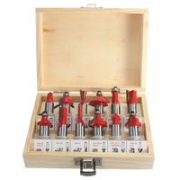 12Pcs Lot 1 2 Inch 12 7MM Professional Shank Tungsten Carbide Router Bit Cutter Set With