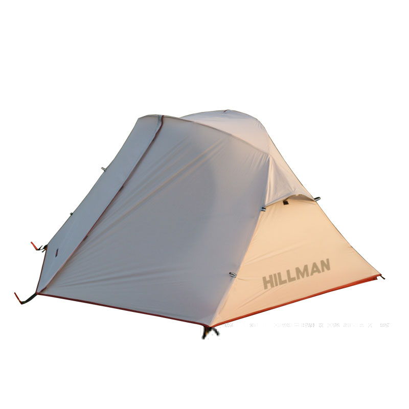 2018 Ultralight 2 Person double layer 20D silicon tent high quality outdoor camping tent hewolf high quality 2 person double layer camping equipment round aluminum rod rainproof outdoor tent