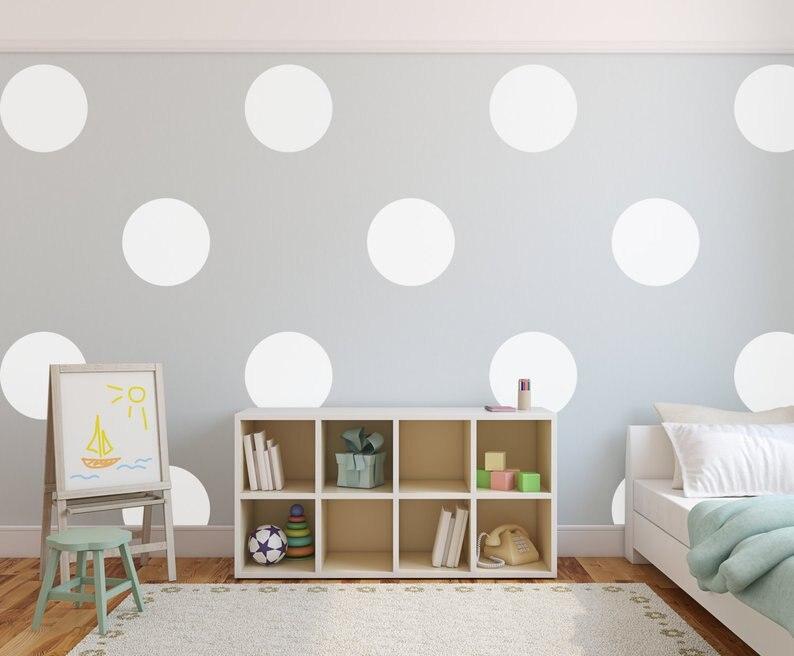 Big Polka Dots Wall Sticker, Dots Wall Decal Балалар - Үйдің декоры - фото 2