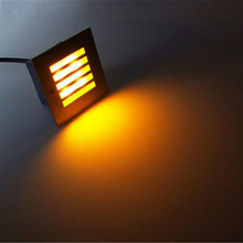 Waterproof 3W LED underground lighting recessed buried floor Oriented lamp indoor/ outdoor Landscape staircase step wall lights