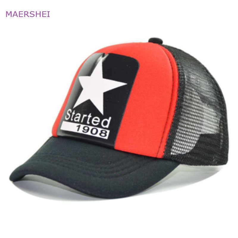 MAERSHEI verano estrella de cinco puntas gorra de béisbol netos respirables  del niño del padre- 195e1ac8ac4