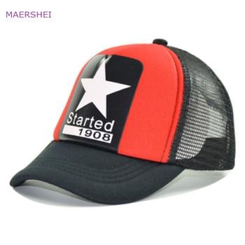 MAERSHEI verano estrella de cinco puntas gorra de béisbol netos respirables  del niño del padre-niño niños ocasional sombrero Casquette homme 6f07ac17707